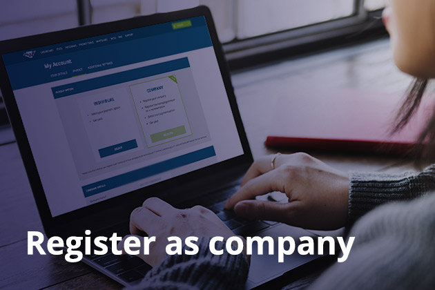 2 - Register as company