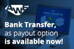 Get paid via bank transfer'
